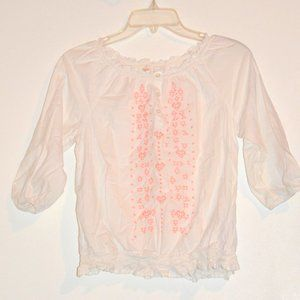 Girls Boho Embroidered Top XL 14/16